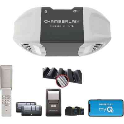 Chamberlain B-550 Smartphone-Controlled Ultra Quiet & Strong Belt Drive Garage Door Opener with MED Lifting Power
