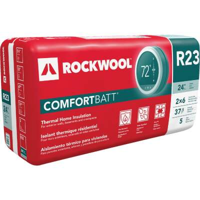 Rockwool Comfortbatt R-23 24 In. x 47 In. Stone Wool Insulation (5-Pack)