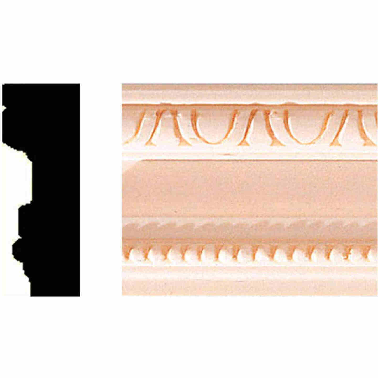 House of Fara 3/4 In. W. x 2 In. H. x 8 Ft. L. Hardwood Scrolled Decorative Chair Rail Molding Image 1