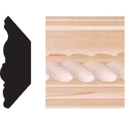House of Fara 13/16 In. W. x 2-11/32 In. H. x 8 Ft. L. Hardwood Decorative Rope Crown Molding