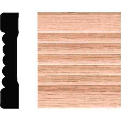 House of Fara 7/16 In. W. x 2-1/4 In. H. x 7 Ft. L. Natural Solid Oak Fluted Wood Casing