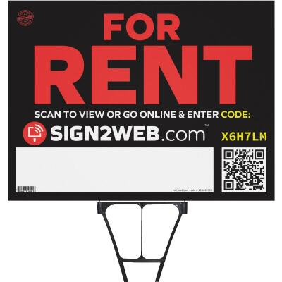 Sign2Web 18 In. x 24 In. Double Sided For Rent Sign
