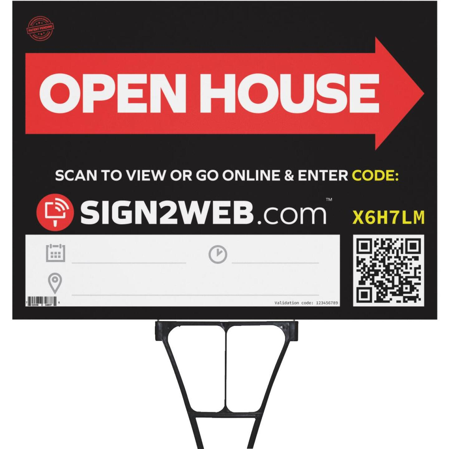 Sign2Web 18 In. x 24 In. Double Sided Open House Sign Image 1