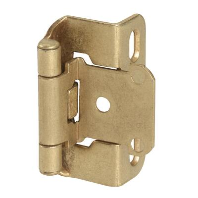 Amerock Burnished Brass Self-Closing Partial Wrap Overlay Hinge (2-Pack)