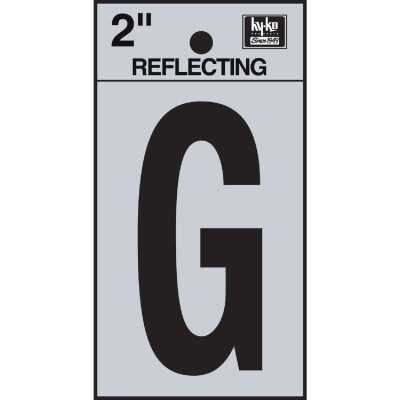 Hy-Ko Vinyl 2 In. Reflective Adhesive Letter, G
