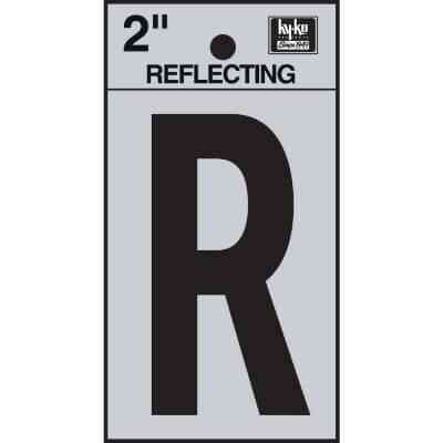 Hy-Ko Vinyl 2 In. Reflective Adhesive Letter, R