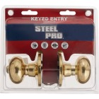 Steel Pro Pollished Brass Entry Door Knob  Image 2