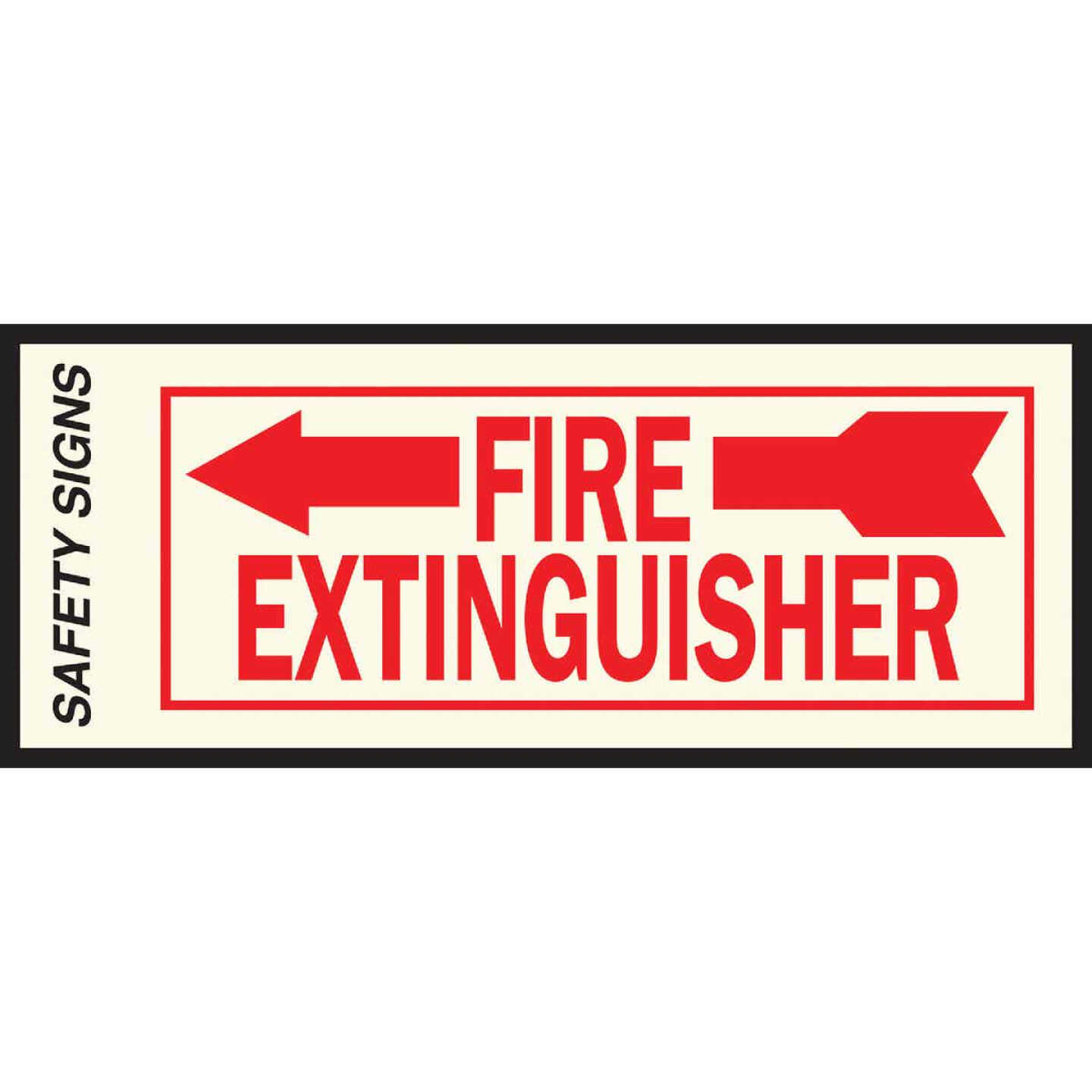 Hy-Ko Vinyl Sign, Fire Extinguisher with Arrow Left Image 1