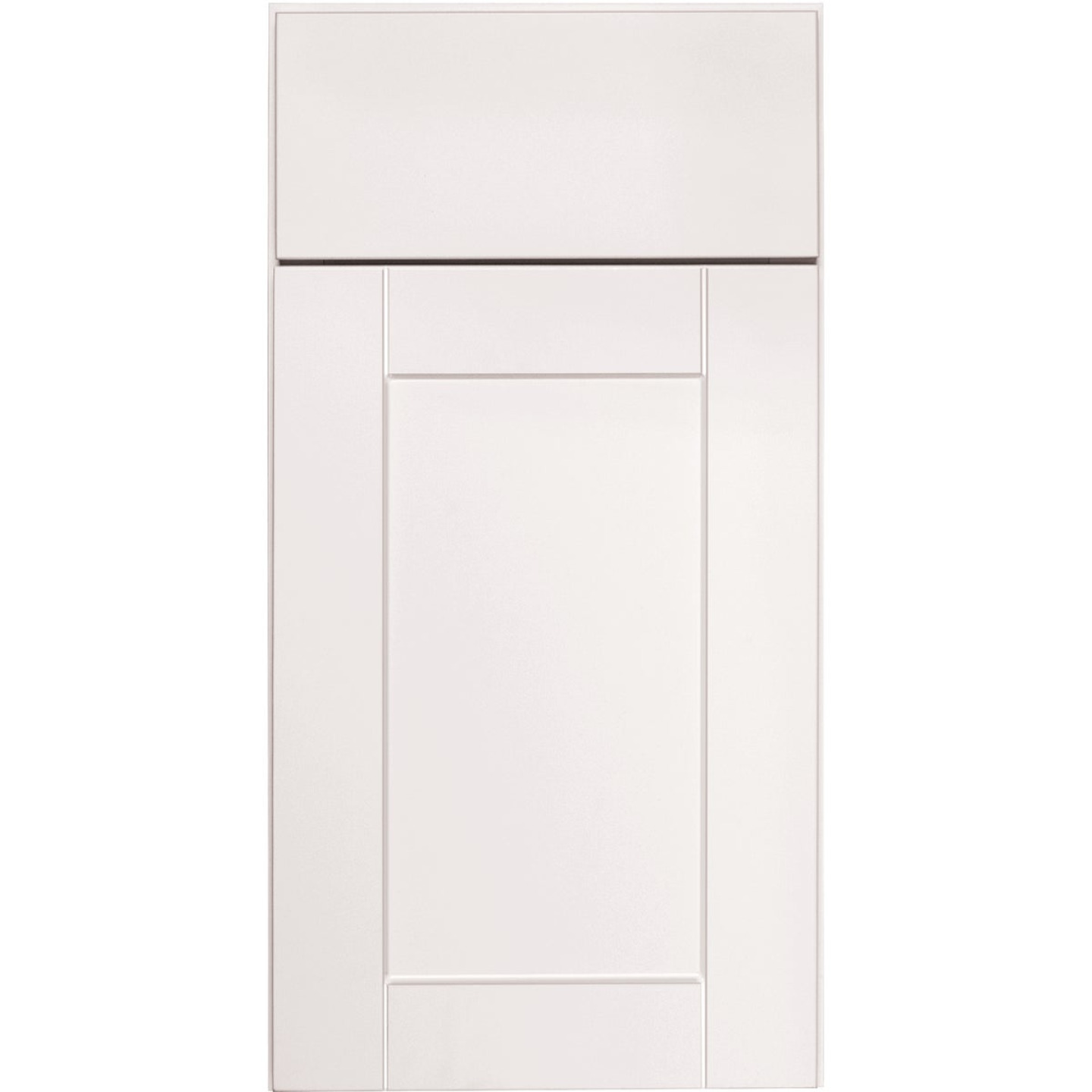 Continental Cabinets Andover Shaker 15 In. W x 30 In. H x 12 In. D White Thermofoil Wall Kitchen Cabinet Image 3