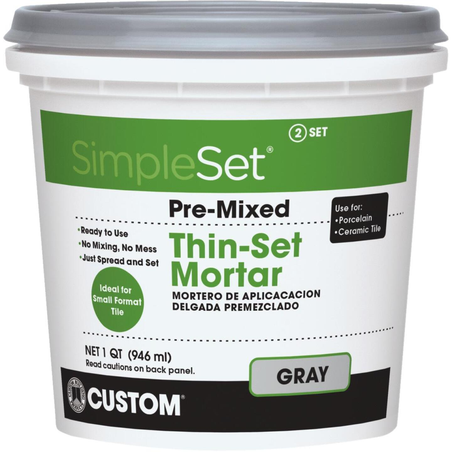 Custom Building Products SimpleSet Quart Gray Pre-Mixed Thin-Set Mortar Image 1