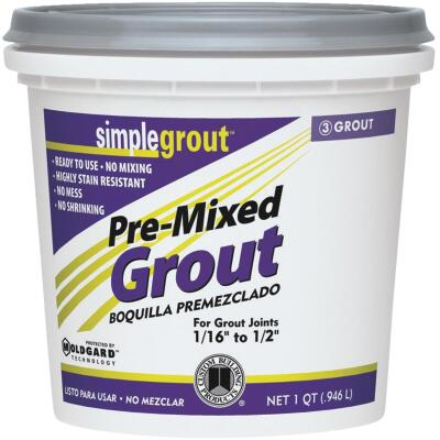 Custom Building Products Simplegrout Quart Delorean Gray Sanded Tile Grout