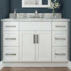 Continental Cabinets Andover Shaker 36 In. W x 34-1/2 In. H x 21 In. D White Vanity Base, 2 Door Image 2