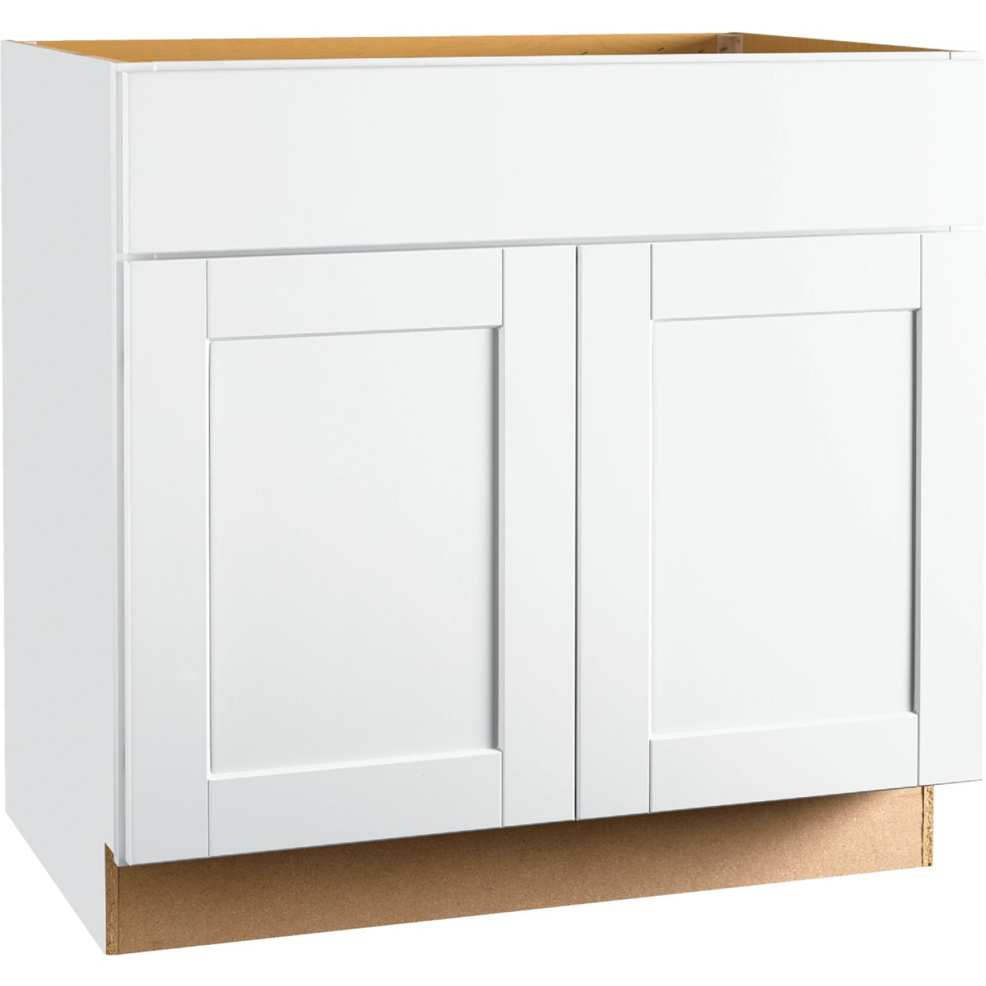Continental Cabinets Andover Shaker 36 In. W x 34-1/2 In. H x 21 In. D White Vanity Base, 2 Door Image 1