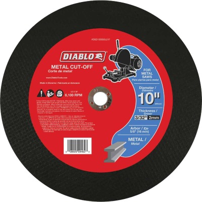 Diablo Type 1 10 In. x 3/32 In. x 5/8 In. Metal Cut-Off Wheel