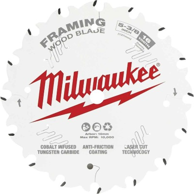 Milwaukee 5-3/8 In. 16-Tooth Framing Circular Saw Blade