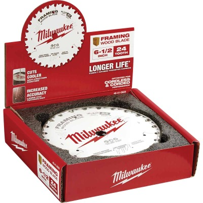 BMilwaukee 6-1/2 In. 24-Tooth Framing Circular Saw Blade, Bulk