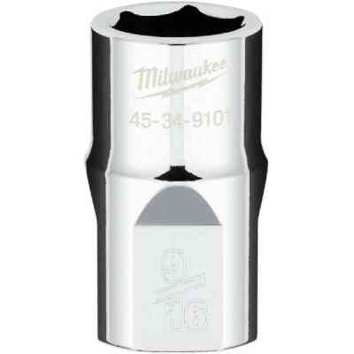 Milwaukee 1/2 In. Drive 9/16 In. 6-Point Shallow Standard Socket with FOUR FLAT Sides