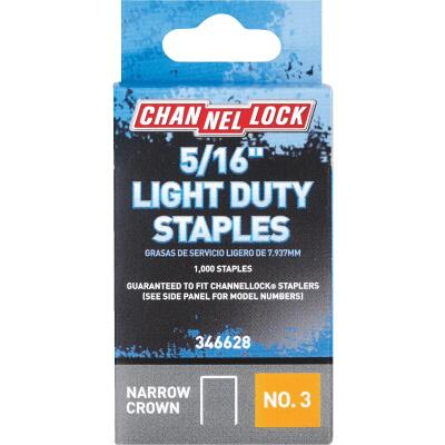 Channellock No. 3 Light Duty Narrow Crown Staple, 5/16 In. (1000-Pack)