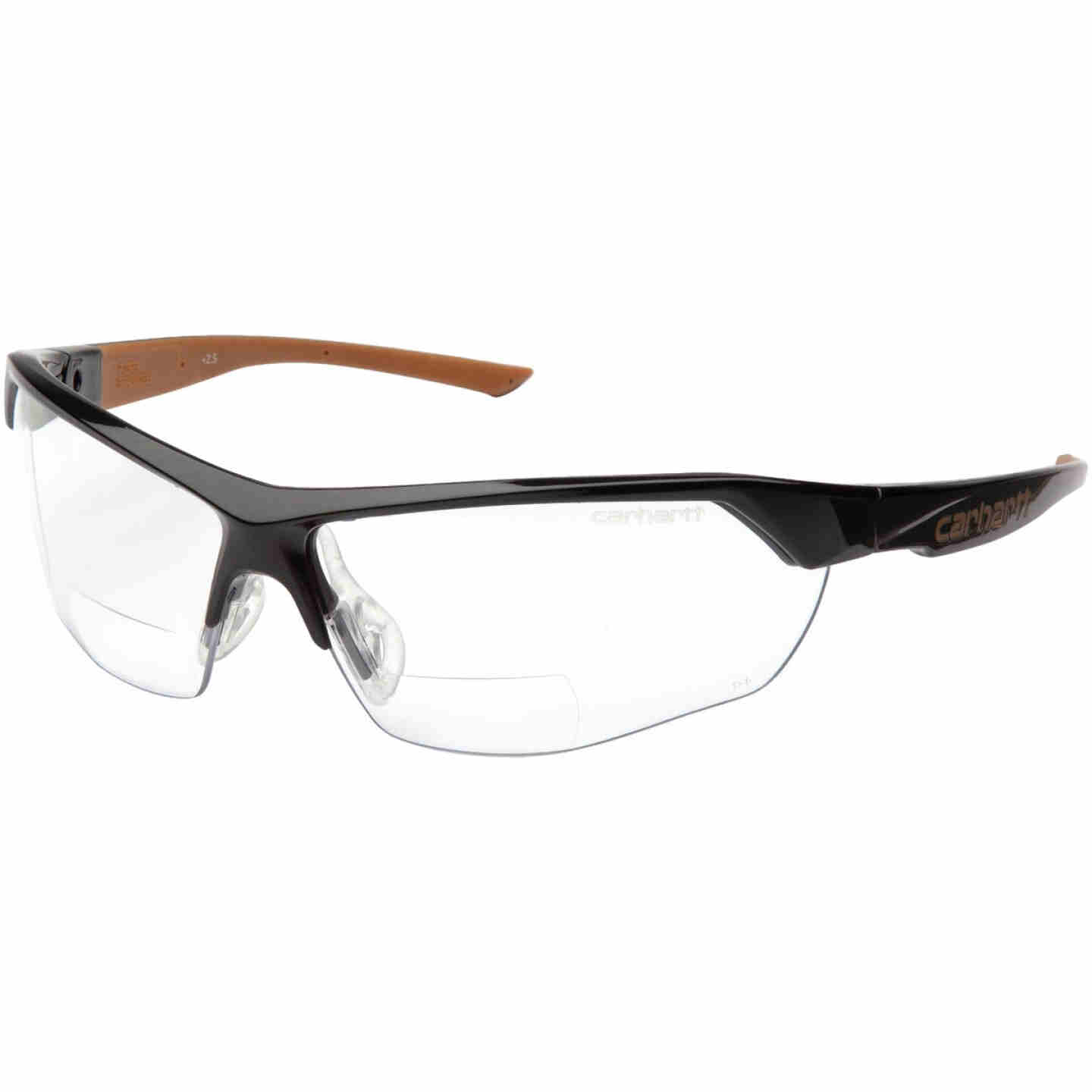 Carhartt Braswell Black Frame Reader Safety Glasses with Clear Anti-Fog Lenses, 1.5 Diopter Image 1