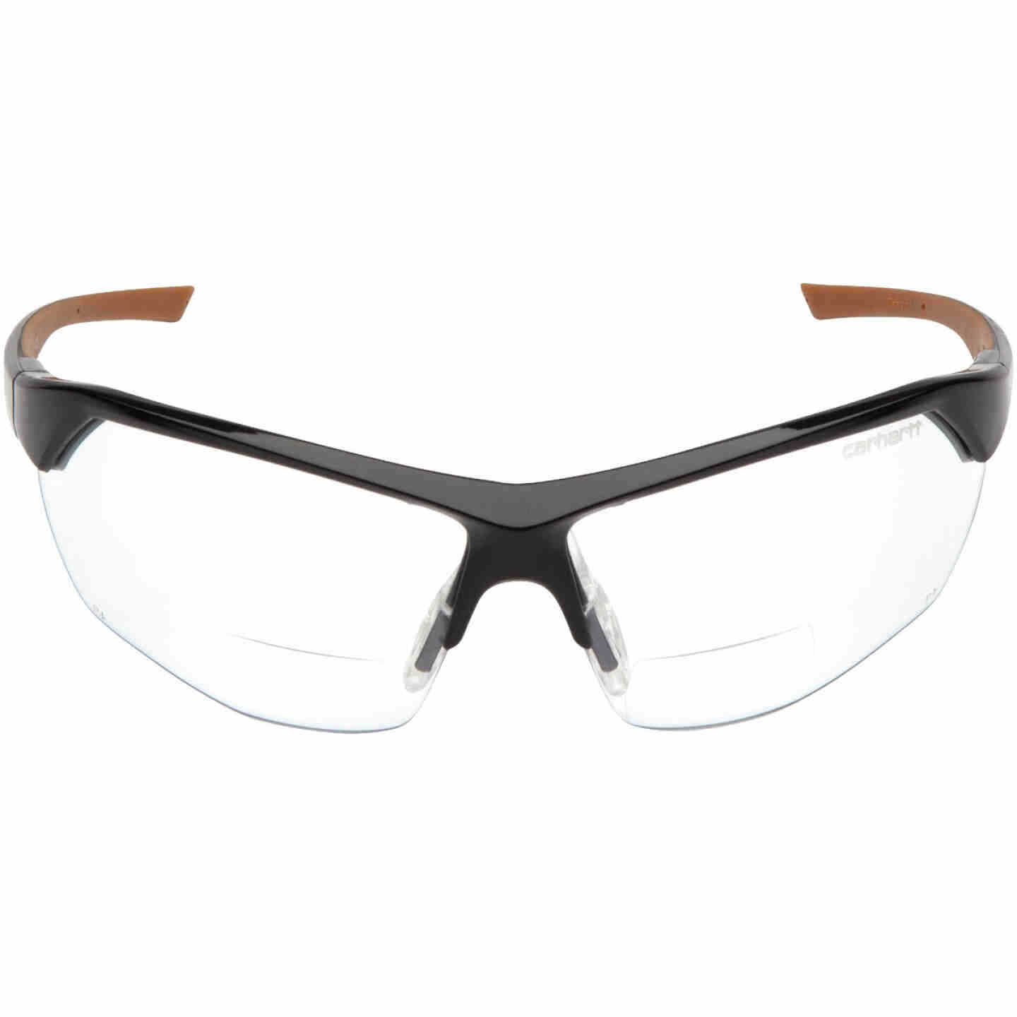 Carhartt Braswell Black Frame Reader Safety Glasses with Clear Anti-Fog Lenses, 1.5 Diopter Image 2