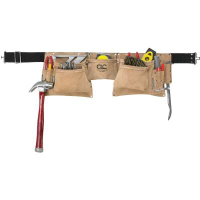 CLC 12-Pocket Suede Leather Heavy-Duty Carpenter Apron
