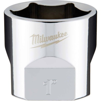 Milwaukee 3/8 In. Drive 1 In. 6-Point Shallow Standard Socket with FOUR FLAT Sides