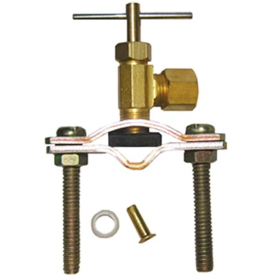 Lasco Compression Outlet Self Tapping Brass Saddle Needle Valve