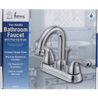 Home Impressions Chrome 2-Handle Lever 4 In. Centerset Hi-Arc Bathroom Faucet with Pop-Up Image 2