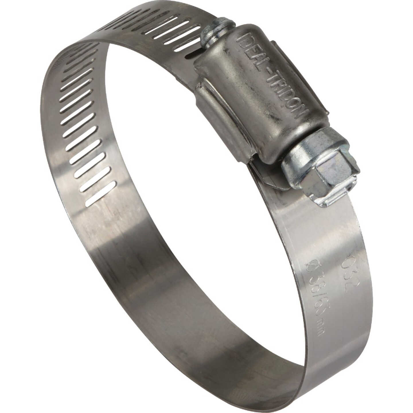 Ideal 1-1/2 In. - 2-1/2 In. 57 Stainless Steel Hose Clamp with Zinc-Plated Carbon Steel Screw Image 1