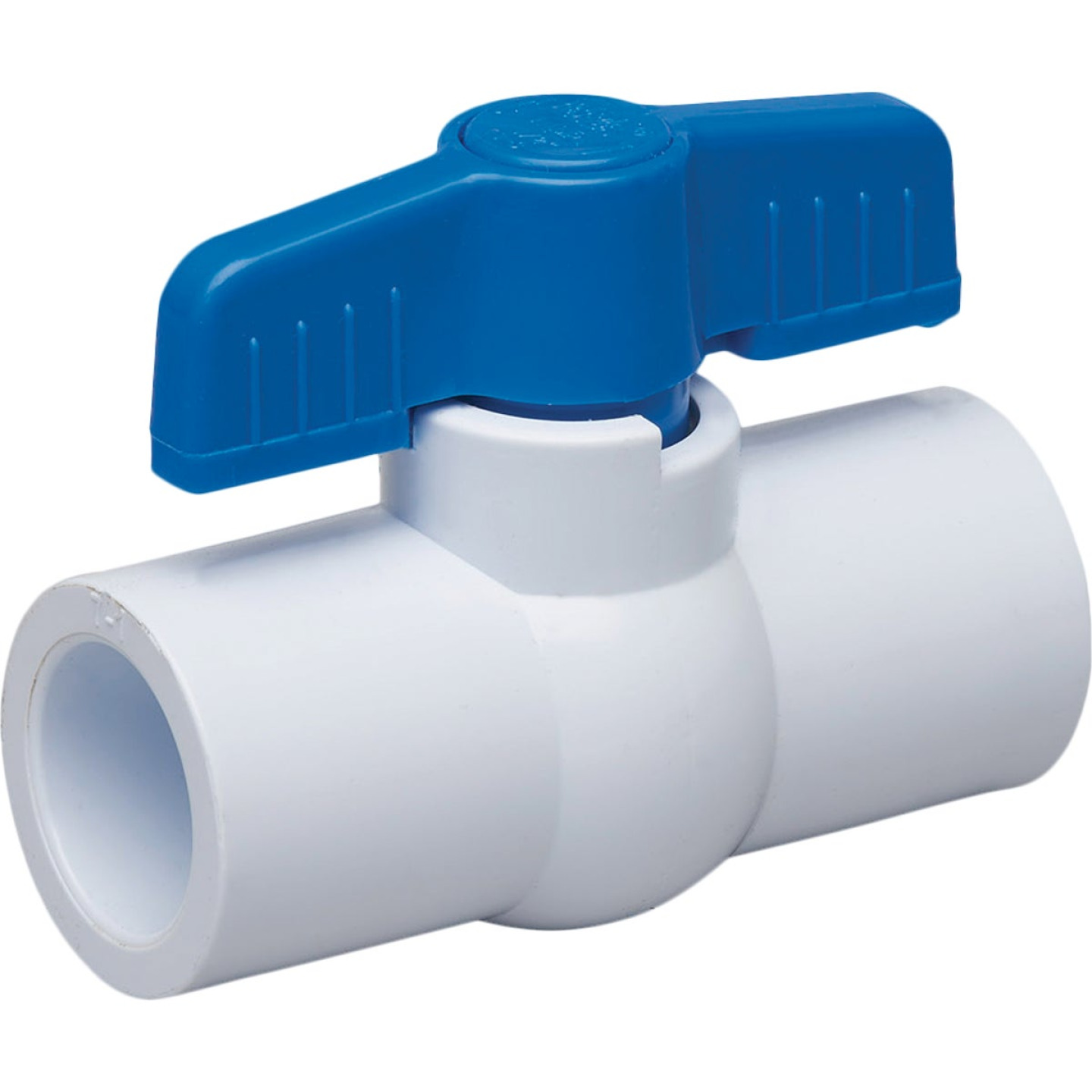 Proline 3/4 In. Solvent x 3/4 In. Solvent PVC Schedule 40 Quarter Turn Ball Valve, Non-NSF Image 1