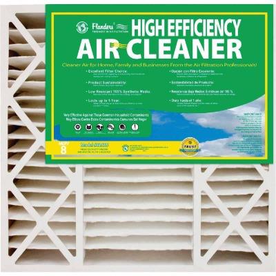 Flanders 20 In. x 25 In. x 4-1/2 In. Deep Pleat High Efficiency MERV 8 Furnace Filter