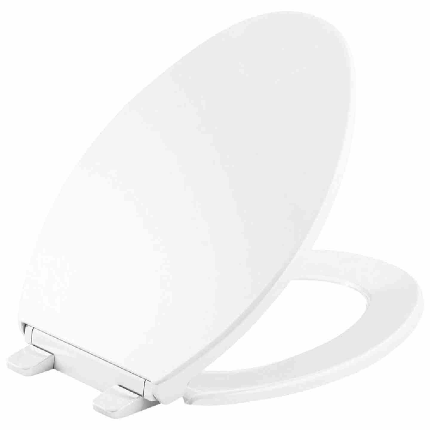Kohler Brevia Quick-Release Elongated Closed Front White Plastic Toilet Seat Image 1