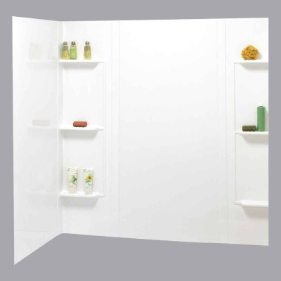 Maax Tempest 5-Piece 59 In. H x 30 In. D Tub Wall Kit in White