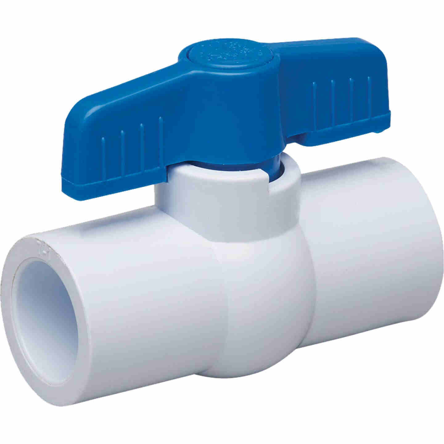 Proline 1-1/2 In. Solvent x 1-1/2 In. Solvent PVC Schedule 40 Quarter Turn Ball Valve, Non-NSF Image 1