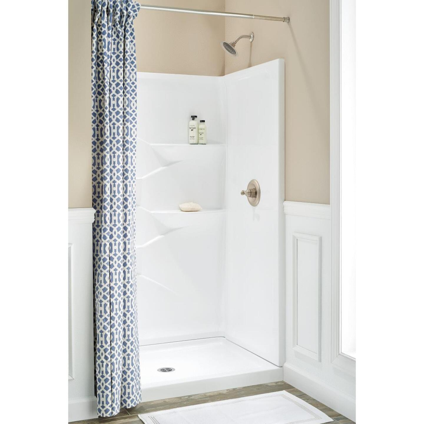 Delta Laurel 3-Piece 48 In. L x 34 In. D Shower Wall Set in White Image 1