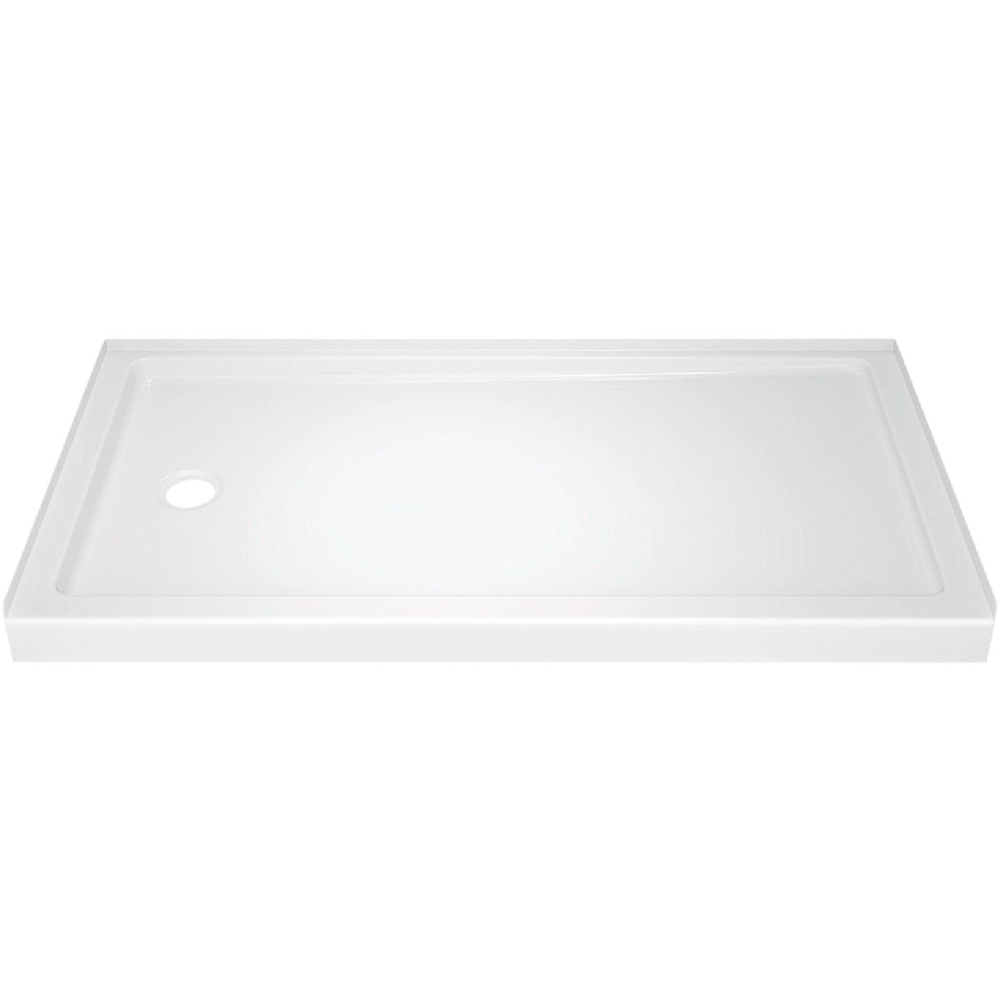 Delta Classic 400 60 In. L x 32 In. D Left Drain Shower Floor & Base in White Image 1