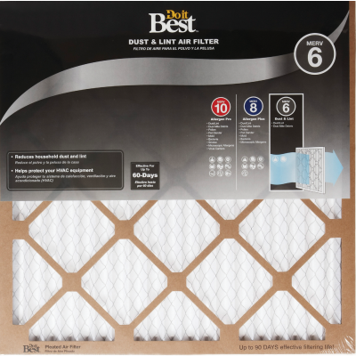Do it Best 10 In. x 20 In. x 1 In. Dust & Lint MERV 6 Furnace Filter