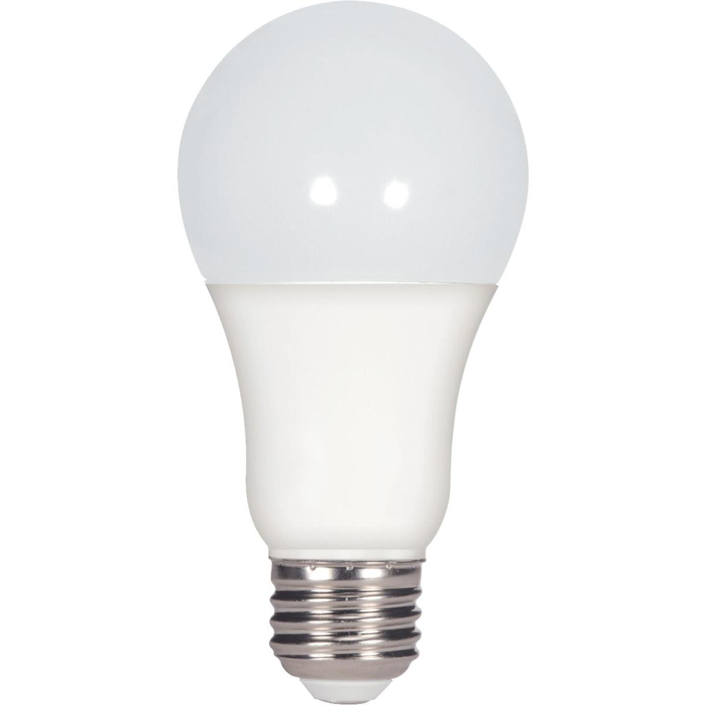 Satco 100W Equivalent Natural Light A19 Medium Dimmable LED Light Bulb Image 1