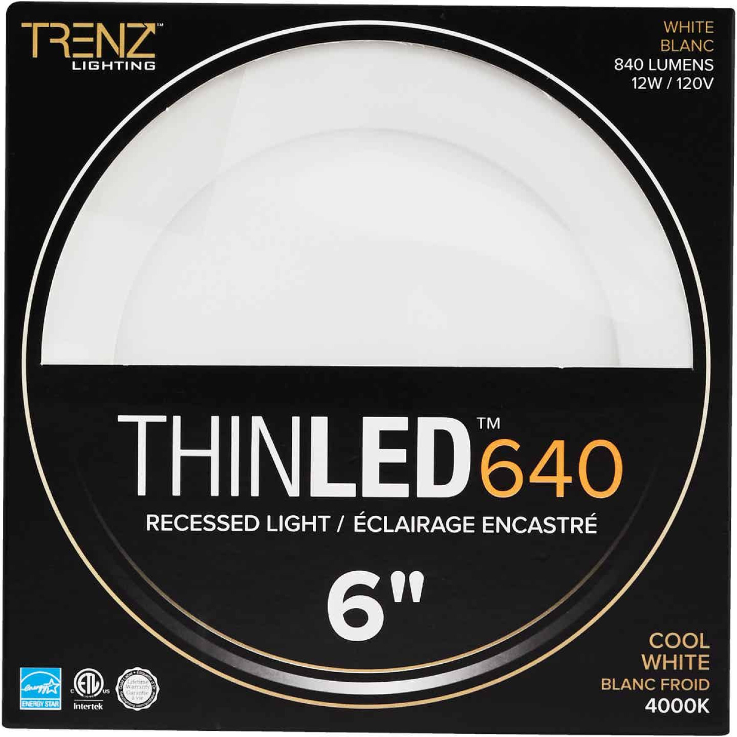 Liteline Trenz ThinLED 6 In. New Construction/Remodel IC Rated White 840 Lm. 4000K Recessed Light Kit Image 2