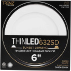 Liteline Trenz ThinLED 6 In. New Construction/Remodel IC White 700 Lm. Sunset Dimming Recessed Light Kit Image 2