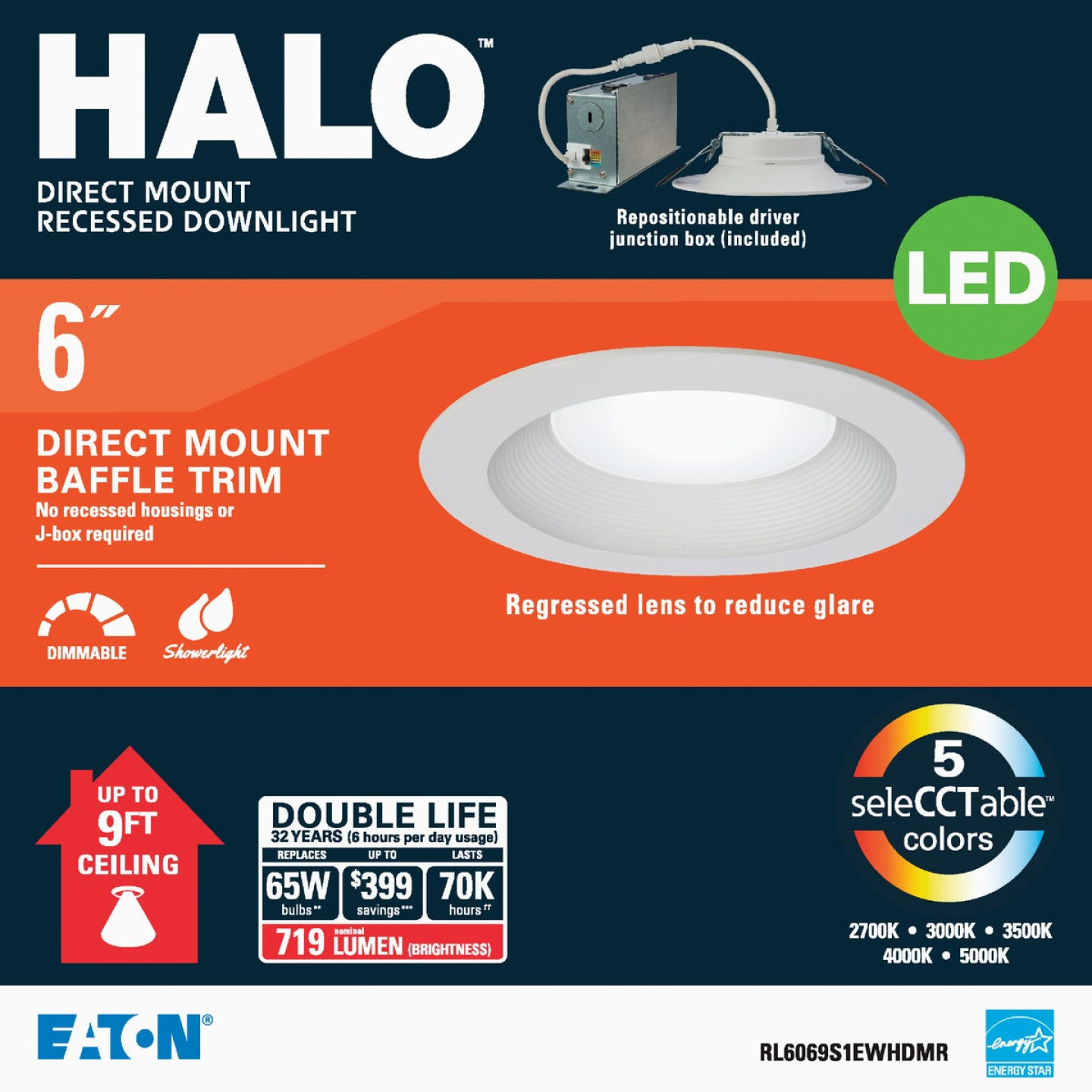 Liteline Trenz ThinLED 6 In. New Construction/Remodel IC White 800 Lm. Sunset Dimming Indirect Recessed Light Kit Image 1