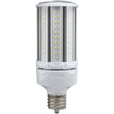 Satco Hi-Pro 54W Clear Corn Cob Mogul Extended Base LED High-Intensity Light Bulb