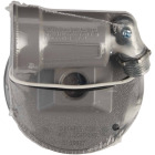 Bell Gray 150W Die-Cast Metal Round Weatherproof Single Outdoor Lampholder with Cover Image 3