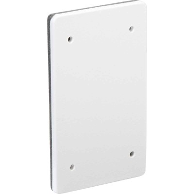 Bell Single Gang Blank Rectangular Polycarbonate White Weatherproof Outdoor Box Cover