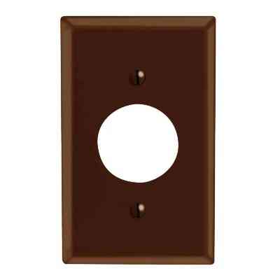 Leviton 1-Gang Smooth Plastic Single Outlet Wall Plate, Brown