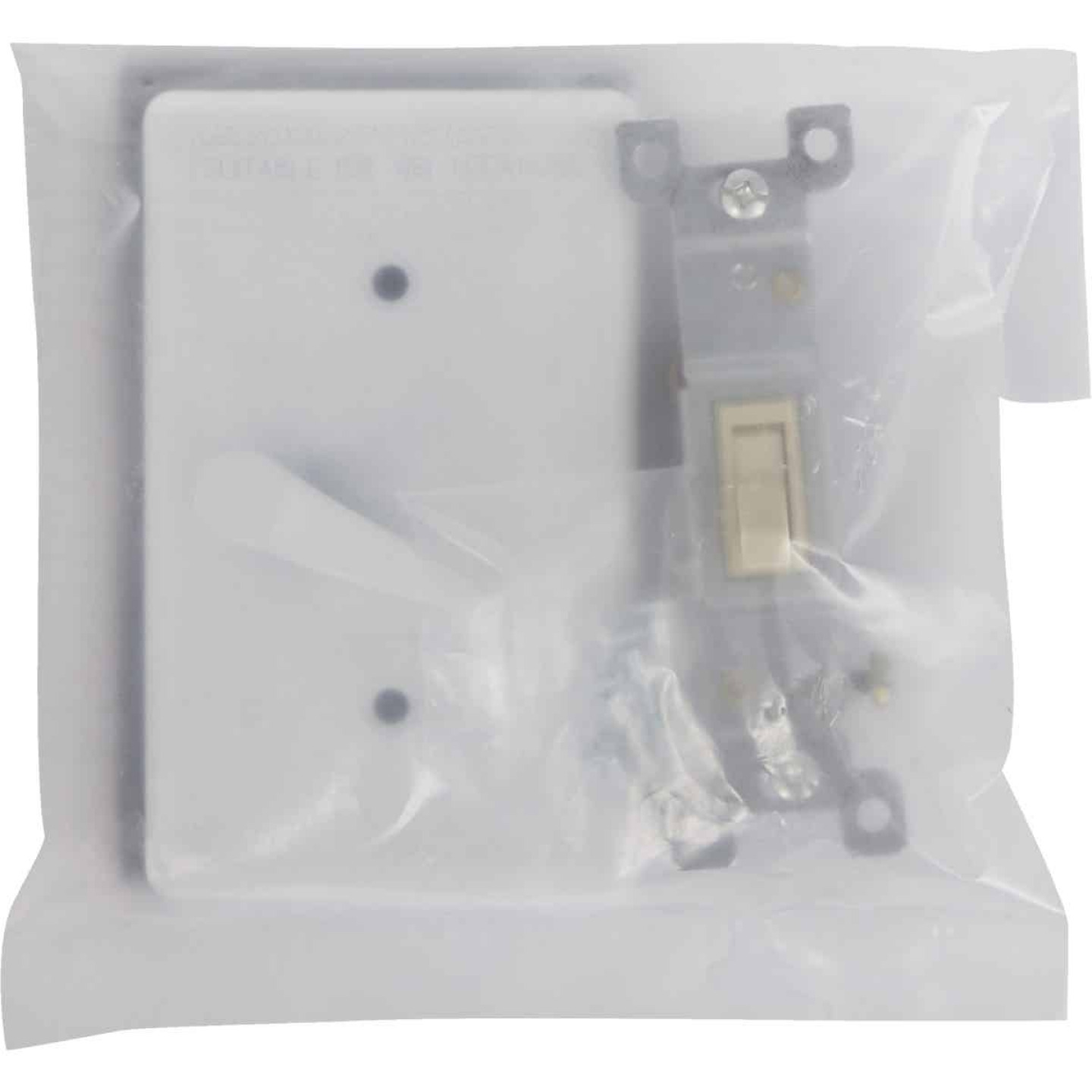 Bell White Single Gang Vertical Mount Outdoor Switch Cover Image 2