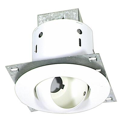 Thomas 5 In. New Construction/Remodel Non-IC Rated White Eyeball Recessed Light Kit