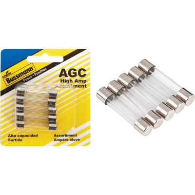 Bussmann AGC Glass Tube Fuse Assortment (5-Pack)