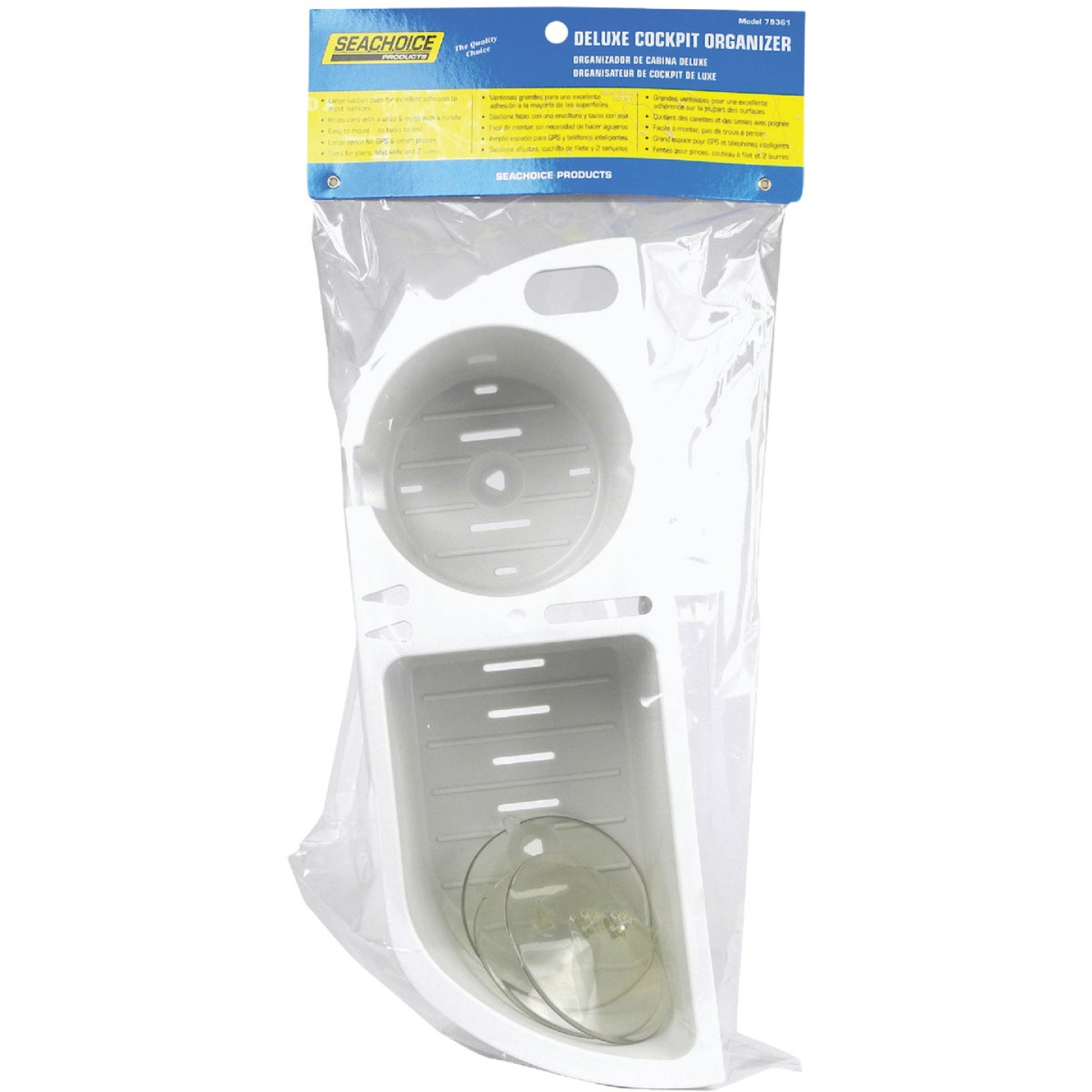 Seachoice Cruisin' Caddy White Plastic Drink Holder and Storage Holder Image 1