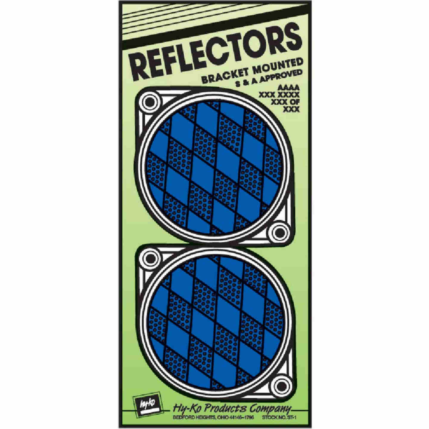 Hy-Ko 3-1/4 In. Dia. Round Blue Bracketed Nail-On Reflector (2-Pack) Image 1